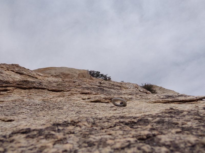 """Rock Climbing Photo: 1970's 1/4"""" bolt W/ Aluminum hanger"""