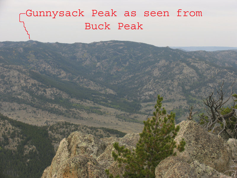 Rock Climbing Photo: Gunnysack Peak from Buck Peak