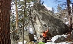 Rock Climbing Photo: Amazing boulder 200 feet uphill from Sheniqua.