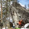 Amazing boulder 200 feet uphill from Sheniqua.