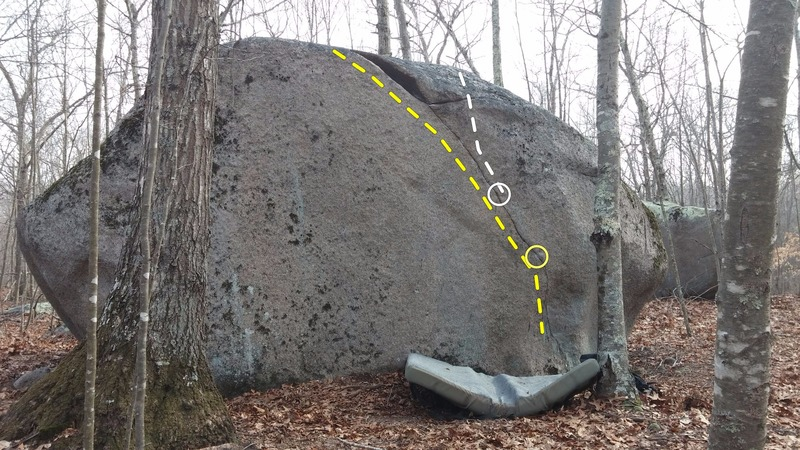 Rock Climbing Photo: Tips Crack - across from Oak Hill Drive