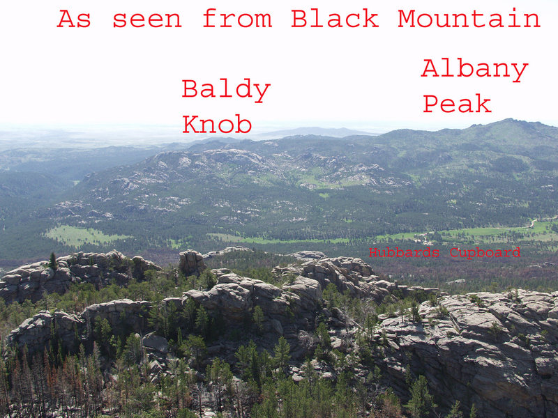 A look at Baldy Knob and Albany Peak from Black Mountain.