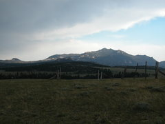 Rock Climbing Photo: Laramie Peak as seen from the Esterbrook Rd about ...