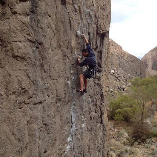Rock Climbing Photo: PQ onsighting the ORG classic. Show Us Your Tits. ...