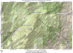 Rock Climbing Photo: Map showing access to Bear Head Mountain from the ...