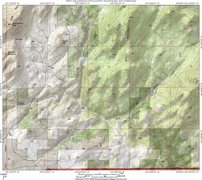Rock Climbing Photo: Map showing Arapaho Trail access from the Bear Can...