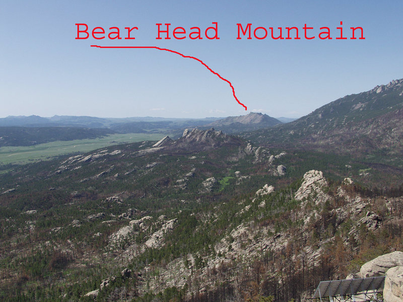 Rock Climbing Photo: Bear Head Mountain as seen from Black Mountain.
