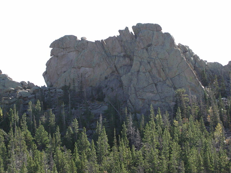 A close up of a west facing wall near the south end the top ridge.