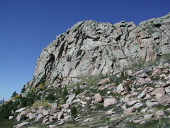 Rock Climbing Photo: A look at the crack systems on a mound near or on ...