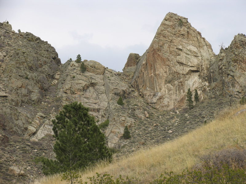 Rock Climbing Photo: The Cone as seen from the Ashley Creek Duck Creek ...