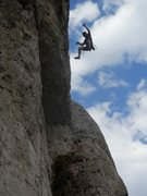 Rock Climbing Photo: Whipping at the crux