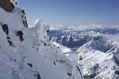 Rock Climbing Photo: Traversing the false summit on our way to the real...