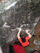 Rock Climbing Photo: Crimpy V6 Above Sheniqua