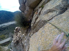 Rock Climbing Photo: The awesome Traverse. Best part of the route