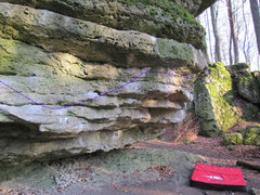 Rock Climbing Photo: A further angle of the traverse.