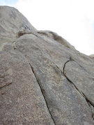 Rock Climbing Photo: The start of Santa Cruz takes the right crack syst...