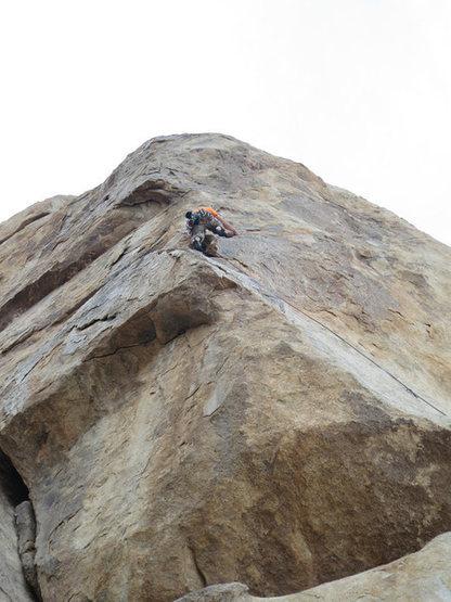 Rock Climbing Photo: Kazu making his way up Space Mountain.