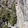 Troy Corliss on lower section of Angels & Demons .12a. Bowman, CA.