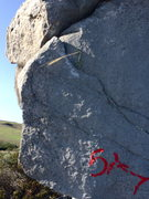 Rock Climbing Photo: Side pull plant of east arete