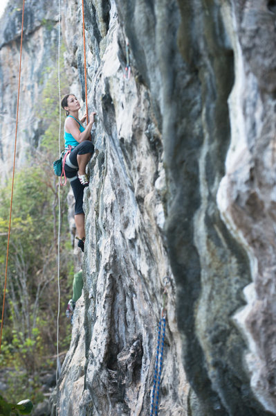 Rock Climbing Photo: Ioana top-ropes Captain Kirk's First Voyage in ord...