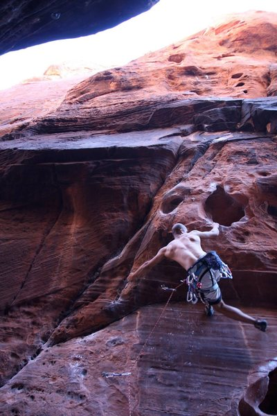 Rock Climbing Photo: Unnecessary but fun dyno on something in Black Cor...