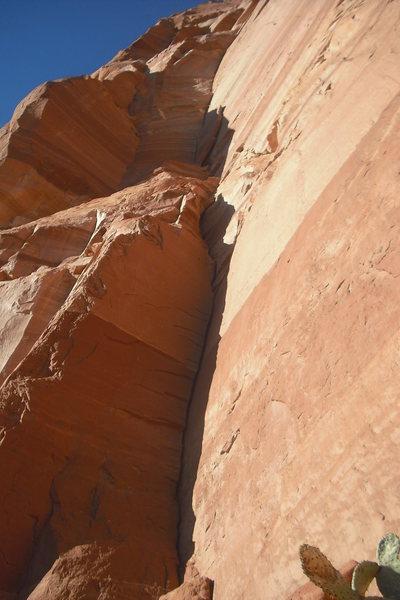 Rock Climbing Photo: Pitch 1-3. Southern Revival