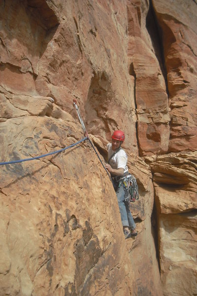 Rock Climbing Photo: Z.Harrison following P5