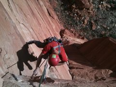 Rock Climbing Photo: Z.Harrison orbit pose. Top of P3