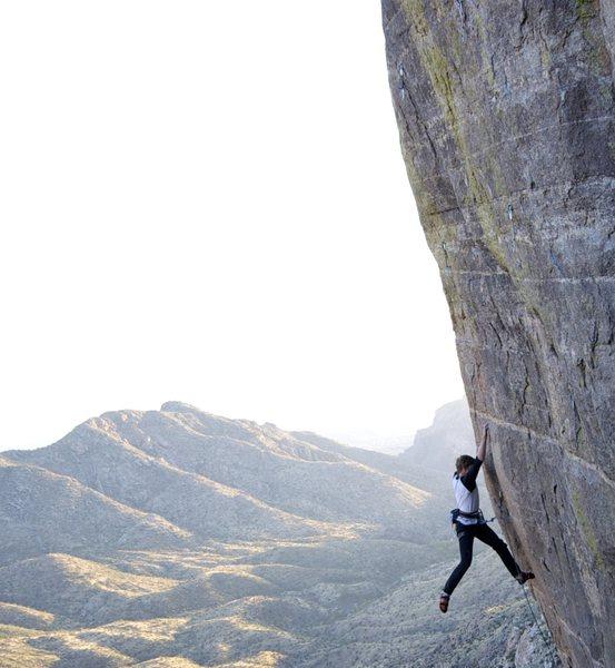 Rock Climbing Photo: David Adams works the moves...