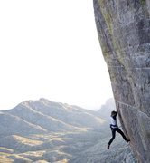 Rock Climbing Photo: David Adams works the moves...