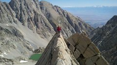 """Rock Climbing Photo: The """"side walk"""" on the East Arete"""