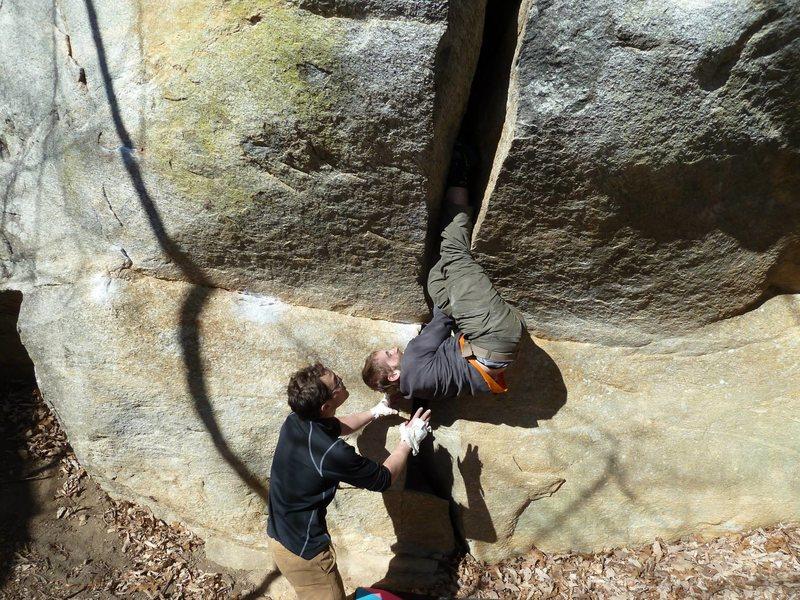 Offwidth boulder.