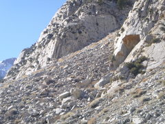 Rock Climbing Photo: G.o.T crag next area to the left of the orange roo...