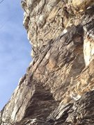 Rock Climbing Photo: Rope line of Double Infinity.