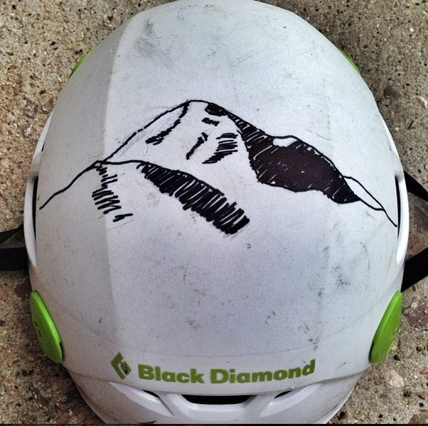 Denali on helmet