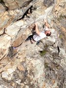 Rock Climbing Photo: Dennis Buice starting up the steeps.