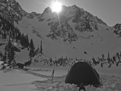 Rock Climbing Photo: Mt. Stuart as seen from our camp at 5,400 feet.