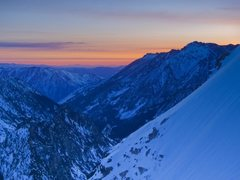 Rock Climbing Photo: Sunrise over the enchantments as seen from up on t...