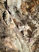 Rock Climbing Photo: Repelling to the ground from the Warfare area.