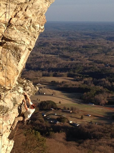 Rock Climbing Photo: Dennis Buice in the first steep section.