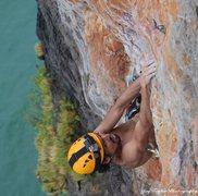 Rock Climbing Photo: Qasim Finishing up pitch #2