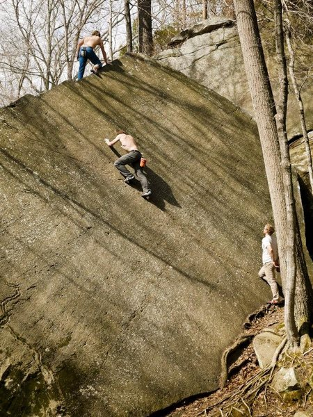 Rock Climbing Photo: send train on yosemite slab Photo by Branden Miche...