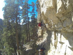Rock Climbing Photo: Uppercut, 5.12a TKO Wall, Sunshine Wall. Spearfish...