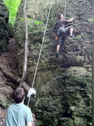 Rock Climbing Photo: Tarzan, Pictured Rocks SP, Iowa