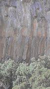 Rock Climbing Photo: Right chalked arete