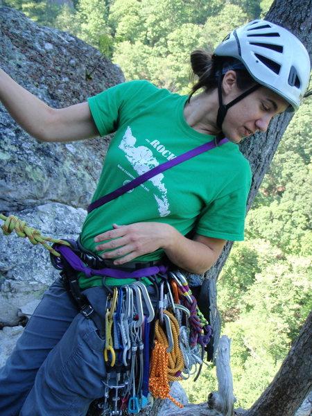 Rock Climbing Photo: Bringing up the second on Ecstasy Junior, Seneca R...