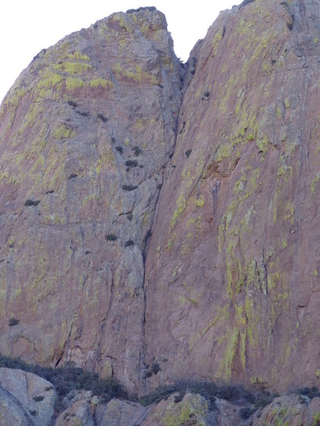 Rock Climbing Photo: The best shot I could get from the approach.  The ...