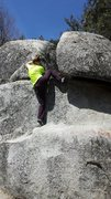 Rock Climbing Photo: High step finish.