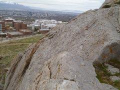 Rock Climbing Photo: Third pair on the lower left slab