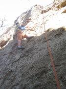 Rock Climbing Photo: Climber Kurt on Thin Crack.